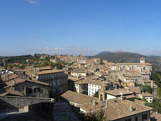 Eurochocolate - vista su Perugia