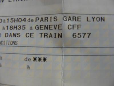 Imprevisti di percorso - biglietto treno