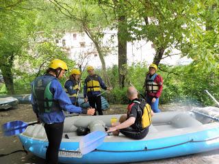 rafting sul fiume Corno - teoria