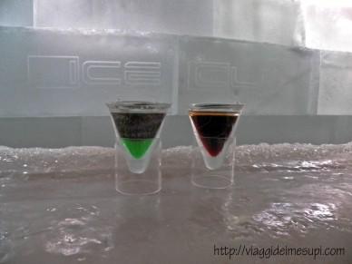 Ice Bar a Roma bicchieri