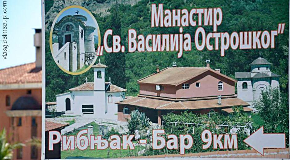 Scritte russe in Montenegro