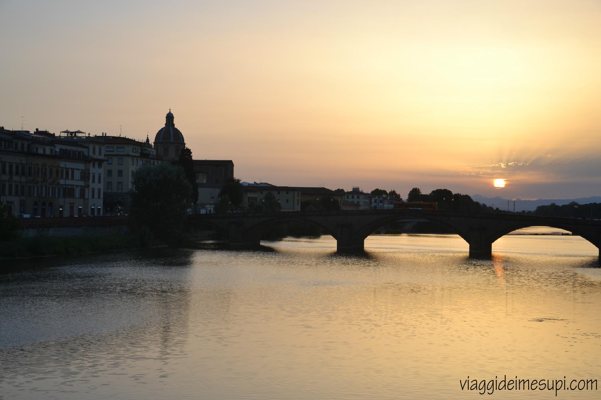 Firenze in un giorno, tramonto