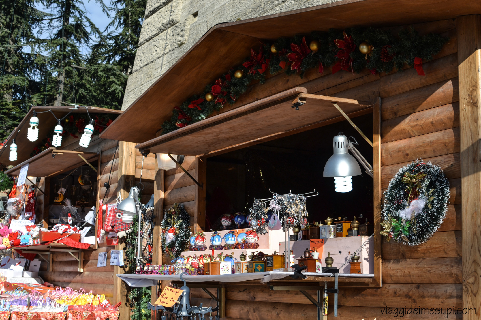 Christmas in San Marino, market