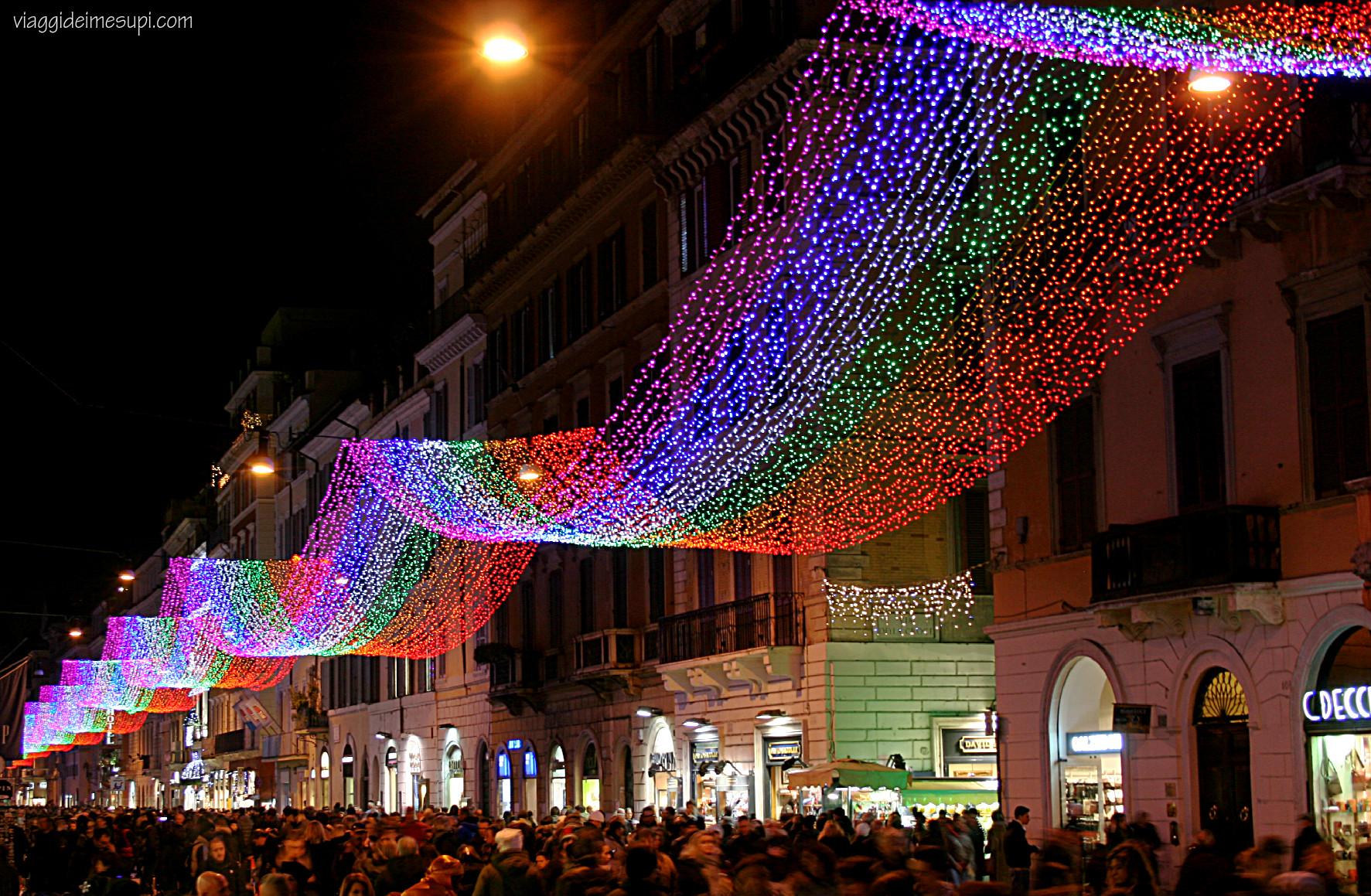 Natale a Roma Via del Corso