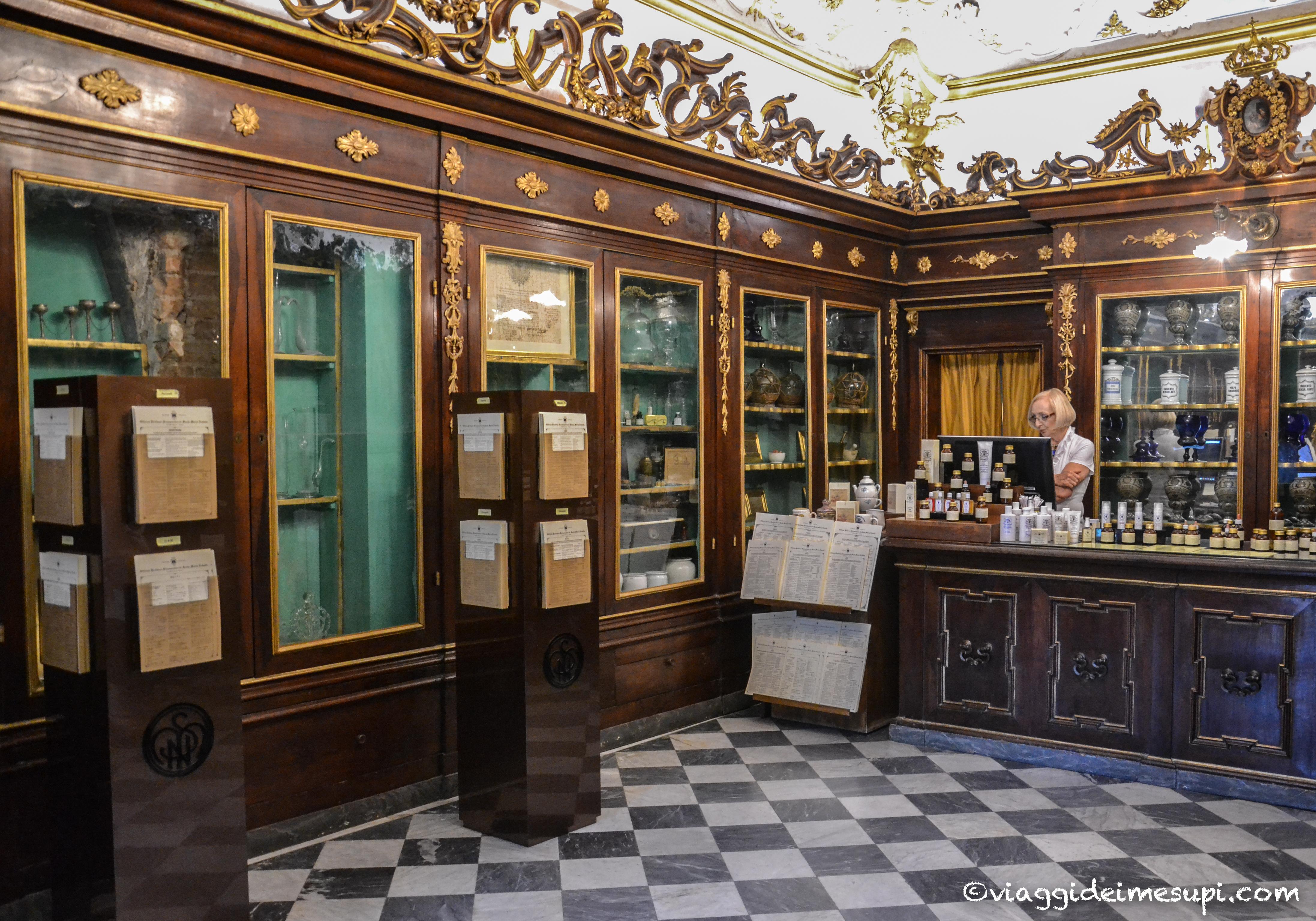 posti insoliti da vedere a firenze, farmacia Santa Maria Novella